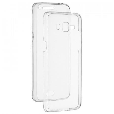 Husa Samsung A51 FullCover 360 (spate plastic, fata silicon) - Transparent