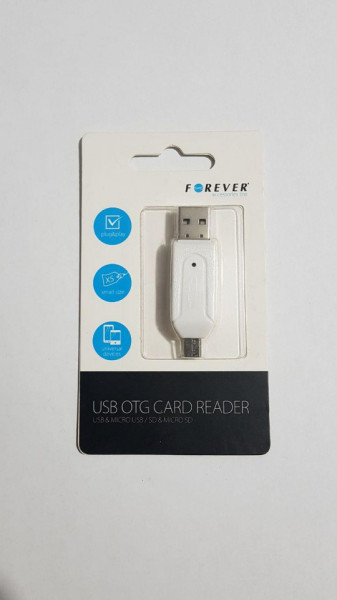 MEMORY CARD READER FOREVER (microSD, SD, M2, MMC) WHITE