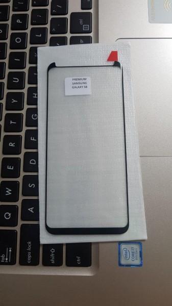 STICLA SECURIZATA SAMSUNG GALAXY S8 (G950)/ S9 CU ADEZIV PE TOT ECRANUL, BLACK