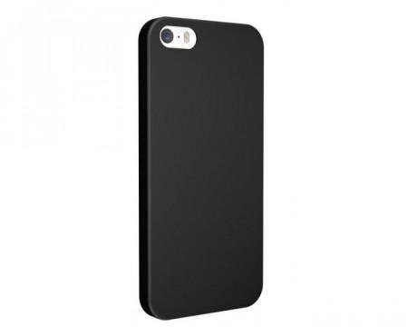 Husa silicon mat iPhone 5/5s/SE negru