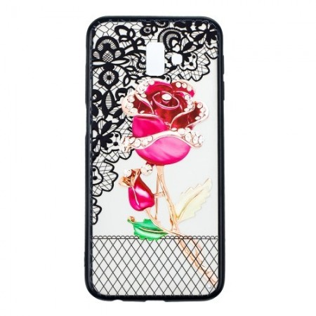 Poze Husa Embossment Lace Flower Combo Samsung Galaxy J6 PLUS