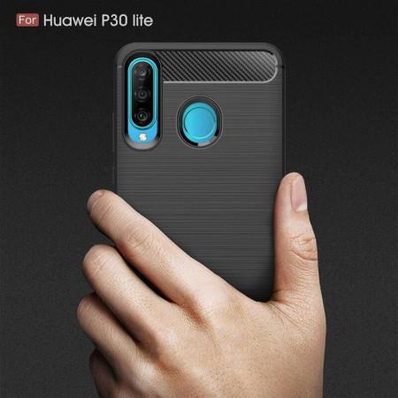 Husa Huawei P30 Lite TPU Carbon Negru