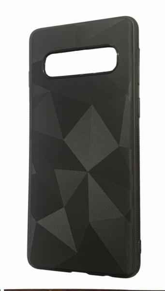 Husa silicon diamant mat Samsung S10 - negru