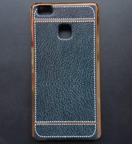Poze Husa silicon piele-cusatura Huawei P9 lite - Negru