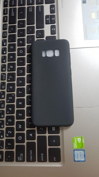 Poze Husa silicon slim mat Samsung S8 negru
