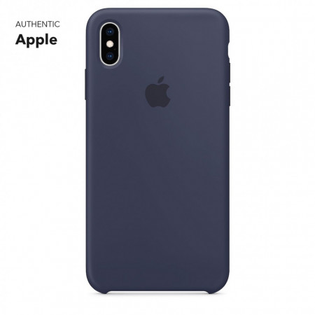 Husa Silicone Cover logo iPhone XS Max, Midnight Blue
