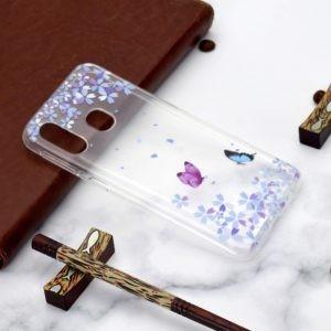 Husa Tech Pattern TPU Soft Samsung A40 – Two Butterflies