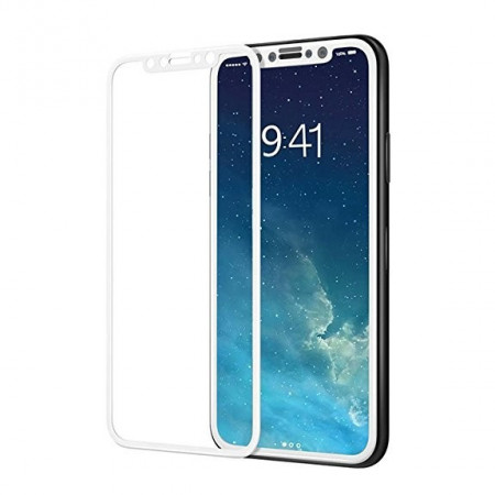 Folie sticla full screen 3mm 5D Iphone X/XS/ iPhone 11 Pro - Alb