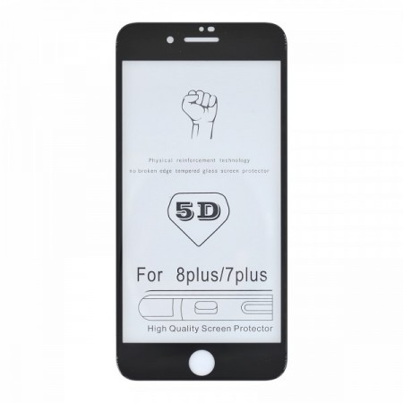 Sticla Securizata 5d Full Screen 2mm (full Glue) Samsung A6 Plus 2018, Black