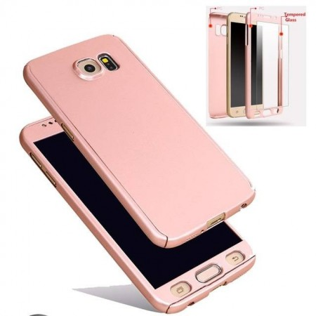 Husa PC 360 Samsung S8 Plus gold Fara folie