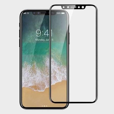 Folie din sticla 5D iPhone X/ XS/ 11 Pro - Negru