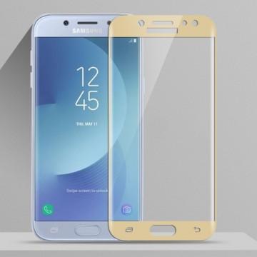 Folie sticla 5D Samsung J3 (2017) - Gold