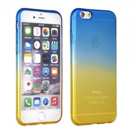 Poze HUSA FORCELL OMBRE IPHONE 7 PLUS, BLUE-GOLD