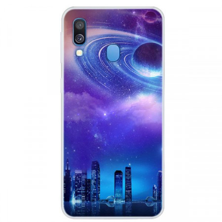 Husa Fusion Space Series Pattern TPU Phone Cover Samsung A40 – Style A