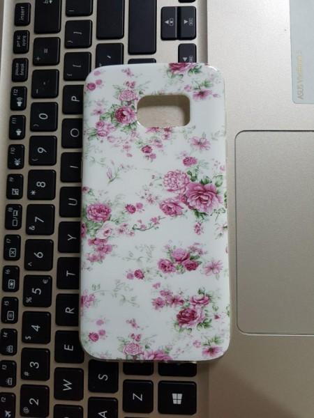 Husa silicon design Samsung S7 edge - Flori