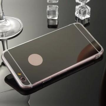 Husa silicon spate oglinda - pentru iPhone 7 - Negru