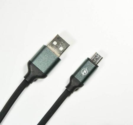 Cablu de date MicroUSB HQ 1.2m 2Ah - negru