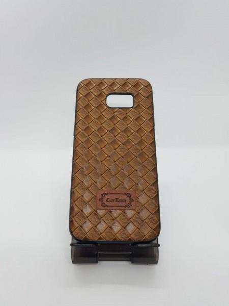 Husa Leather Back TPU Samsung S7 Edge maro