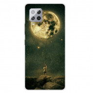 Fusion - Pattern Printing Flexible High Quality TPU Phone Case for Samsung A42 5G - Moon