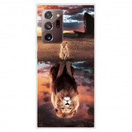 Fusion - Pattern Printing TPU Shell for Samsung Note20 Ultra/Note20 Ultra 5G Soft Case - Lion