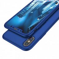Husa 360 pentru iPhone X / XS - bleumarin