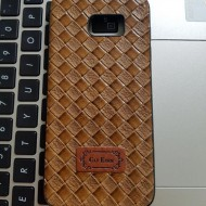Husa Leather Back TPU Samsung S7 Edge maro