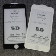 Folie Sticla 5D 3mm FULL SCREEN IPHONE 7Plus / 8Plus, BLACK