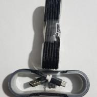 CABLU MICRO USB IMPLETIT MUFA METALICA NEGRU 1,5m