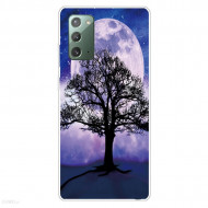 Fusion - Pattern Printing TPU Shell for Samsung Note20 Ultra/Note20 Ultra 5G Soft Case - Tree and Moon
