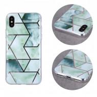 Geometric Marmur Case for Samsung Galaxy A21 green