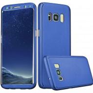 Husa 360 pentru Samsung S8 Plus - Folie din PET - Bleumarin