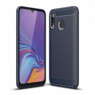 Husa Carbon Pentru Samsung A10, A105, Bleumarin