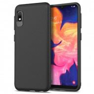 Husa Fusion Jazz Series Twill Texture TPU Cell Casing Samsung A10e – Black