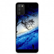 Fusion - Soft TPU Phone Case with Starry Sky Pattern Printing for Samsung A02s - Person under