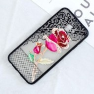 Husa Embossment Lace Flower Combo Samsung Galaxy J6 PLUS