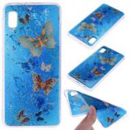 Husa Fusion Glitter Sequins Inlaid Style TPU Phone Case Samsung A10e – Butterflies