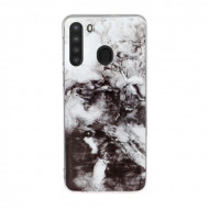 Husa Fusion Marble Pattern IMD TPU Samsung A21