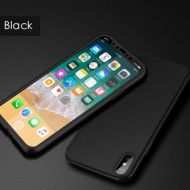 Husa 360 pentru iPhone X / XS - Negru