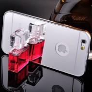 Husa bumper aluminiu cu spate oglina - silver - pentru iPhone 7+