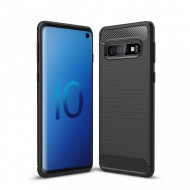 Husa silicon carbmat Samsung S10 plus