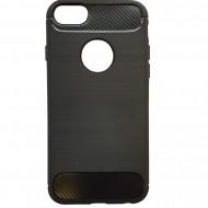 Husa silicon carbon pentru iPhone 5/5s/SE - Negru