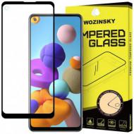 Folie Protectie Ecran Samsung A21s, Sticla Securizata, Neagra