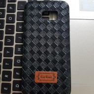 Husa Leather Back Samsung S7 Edge negru