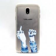 Husa silicon design printat Samsung J3 (2017) - fuck