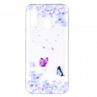 Husa Tech Pattern TPU Soft Samsung A40 – Two Butterflies