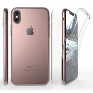 Husa silicon 360 fata + spate pentru iPhone X