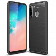 Carbon Black case for Samsung A21