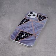 Geometric Marmur Case for Samsung A12 / M12 graphite
