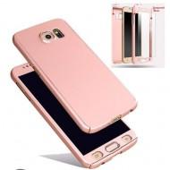 Husa 360 pentru Samsung S8 Plus gold Fara folie