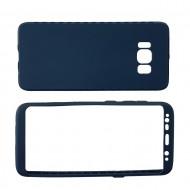 Husa 360 Samsung S8 Plus SILICON - Rosu, Albastru